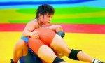 Woman wrestling