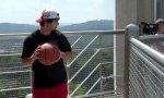Weitester Basketball-Wurf der Geschichte?