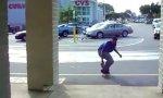 Dem Skateboarder die Show stehlen