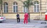 Tschechischer Kreuzungsritter im Kampf