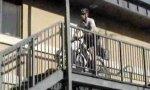 Fahrrad-Polizist im Sondereinsatz