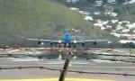 Flugzeugstart frontal