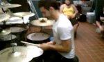 Drei-Stick-Drummer