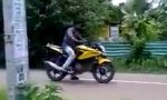 Thailändisches Wheelie-Training
