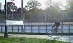 Frischhaltefolie vs Fahrradfahrer