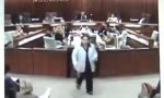 Blatant dive in the courtroom