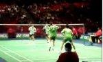 Badminton-Battle beim Doppel