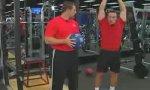 Medizinball-Übung