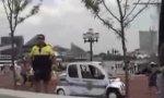 Wütender Cop vs. Skateboarder