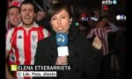 Der Fußballfan und die Reporterin