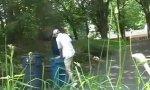 Lustiges Video : Müllmänner schocken
