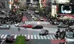 Traffic Junction In Japan