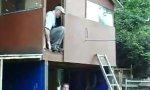 Hillbilly Drunk Ladder Fail
