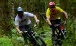 Waldspaziergang mit dem Fahrrad