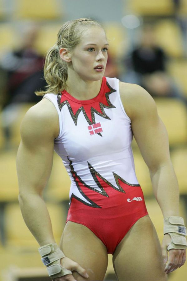 Tender Danish female gymnast