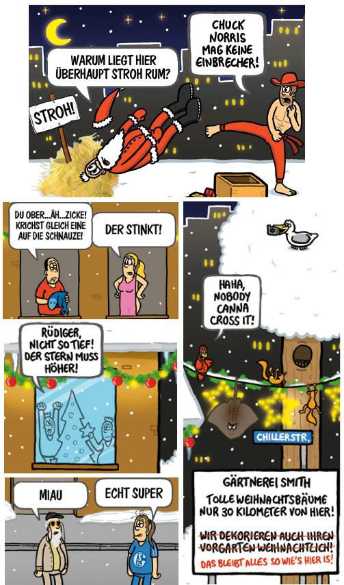 Chilloutzone Cartoon Adventskalender Chuck Norris Rüdiger nicht so tief